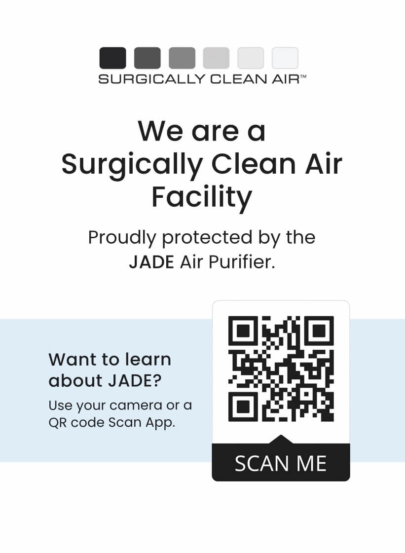 Jade brand Air Purifying System used in office